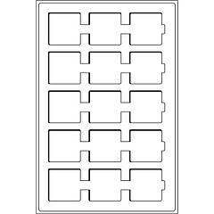 Лоток Leuchtturm для монет (ячейка 50*50) для холдеров