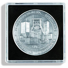 Капсула Leuchtturm квадратная QUADRUM для монет внутренний диаметр 48мм.