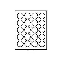 Бокс Leuchtturm для монет (диаметр ячейки 47 мм)