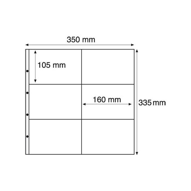 MAX2S Лист к альбому MAXIMUM, 2x6 делений по  105x160 мм, черный