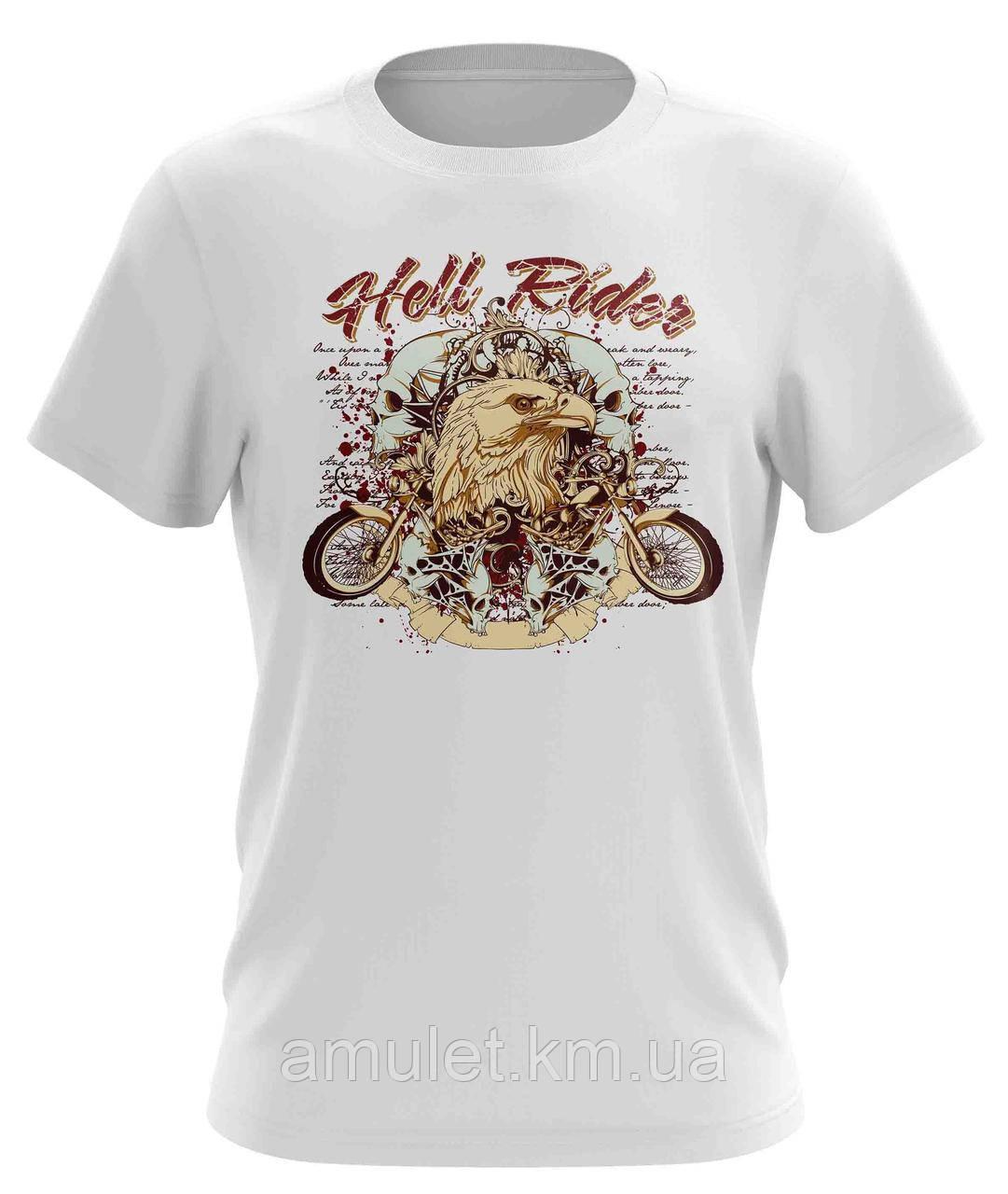 "Футболка для мужчин с рисунком  ""Hell rider"""