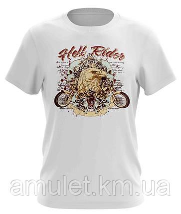 "Футболка для мужчин с рисунком  ""Hell rider"", фото 2"