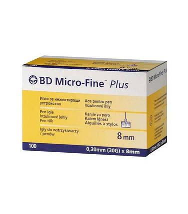 Иглы инсулиновые Микро файн  плюс 8 мм, BD Micro-fine Plus 30G, фото 2