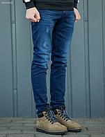 Мужскиетеплые джинсы Staff slim fleece col2, фото 1
