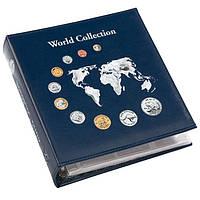 """Альбом для монет Leuchtturm, NUMIS """"World Collection"""" с 5 листами для 143 монет"""