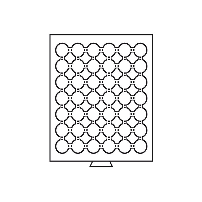 MBCAPS24 Бокс для монет (диаметр ячейки 30.0 мм)