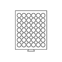 Бокс Leuchtturm для монет (диаметр ячейки 30.0 мм)