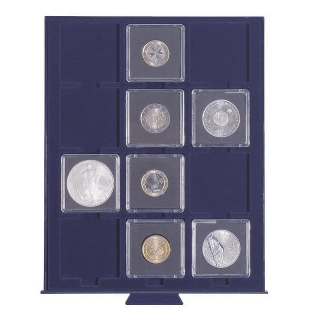 Бокс для монет Leuchtturm, Smart в капсулах Quadrum (размер ячейки 50*50мм)