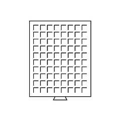 Бокс Leuchtturm для монет (размер ячейки 24*24 мм)