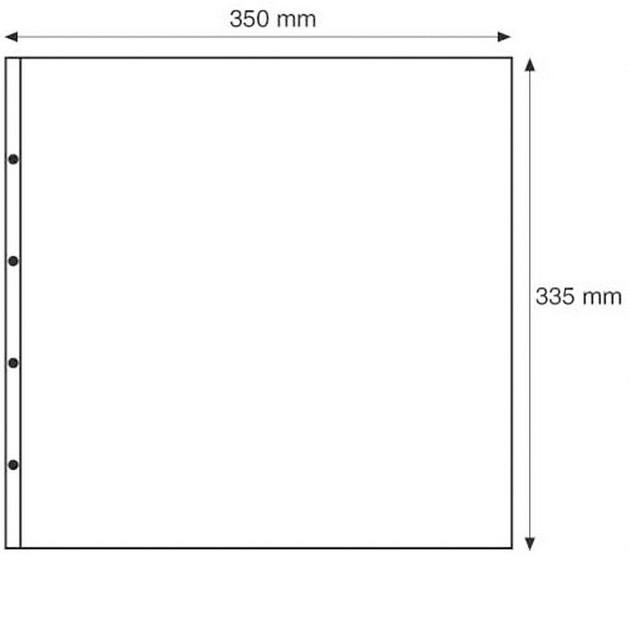 MAX1S Лист к альбому MAXIMUM, 2x1 делений по  327x159 мм, черный