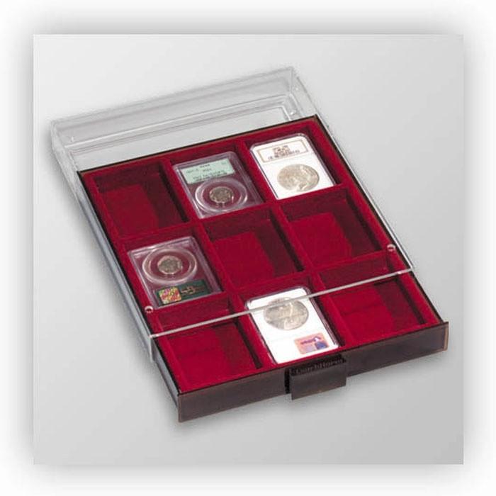 Бокс для монет Leuchtturm, XL (размер ячейки 64*86 мм)