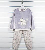 Пижама детская махровая с мишкой, фото 1