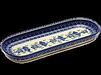 Блюдо овальное узкое среднее 27 Blue Flowers with Berries