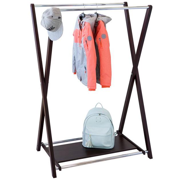 Двойная стойка для одежды с полкой «Модус 3П»
