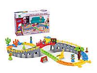 Железная дорога для малышей с мостом, 32 элементы