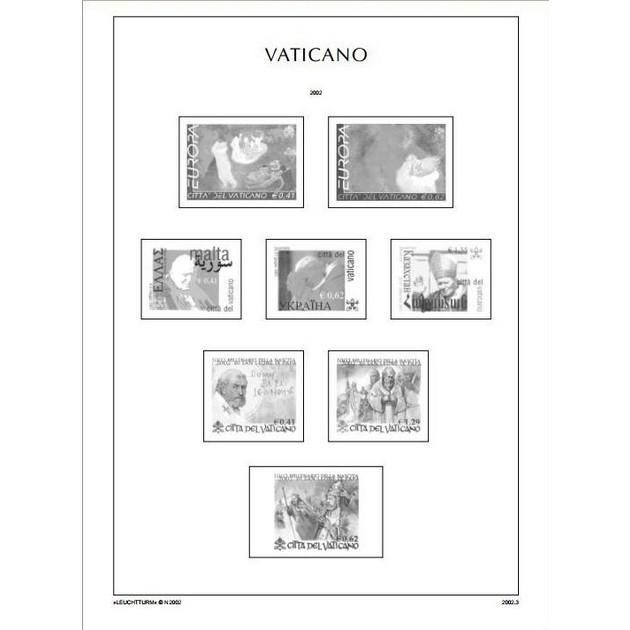 Листы Leuchtturm, иллюстрированные для марок Ватикан 1852-1958 г.г.