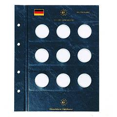 Лист до альбому Leuchtturm для 10 євро, Німеччина
