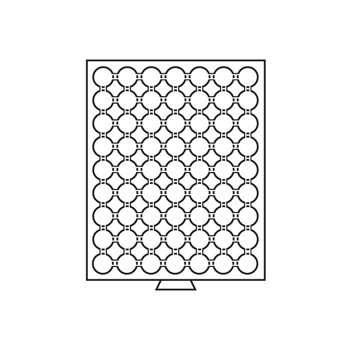 Бокс Leuchtturm для монет (діаметр вічка 26 мм)