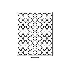 Бокс Leuchtturm для монет (диаметр ячейки 26 мм)