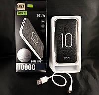 Внешний аккумулятор Power Bank Golf G-26 10000mAh черный