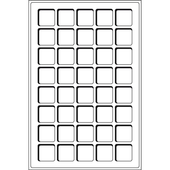 TAB40BL Лоток для монет (ячейка 33*33)
