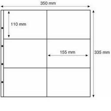 MAX2C Лист к альбому MAXIMUM, 6 ячеек 160*105 мм.