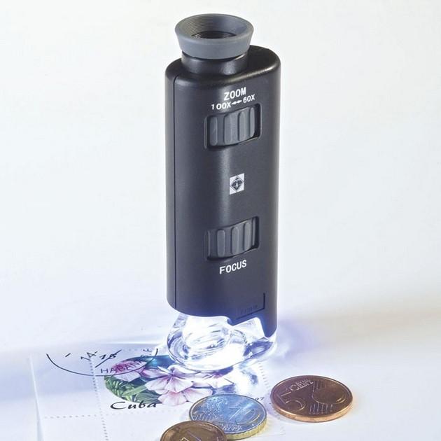 Микроскоп Leuchtturm увеличение от 60х до 100х, с подсветкой