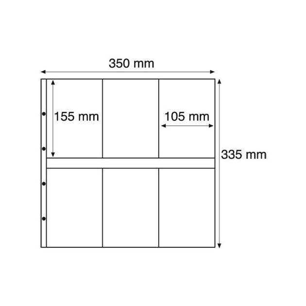 MAX3S Лист к альбому MAXIMUM, 2x6 делений по  155x105 мм, черный