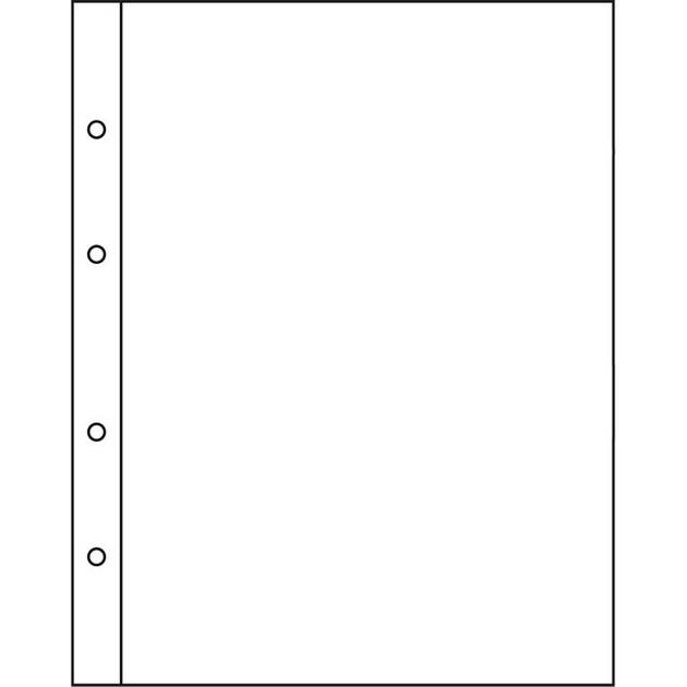 Лист к альбому Leuchtturm, NUMIS для банкнот и открыток 165х219 мм, NH01