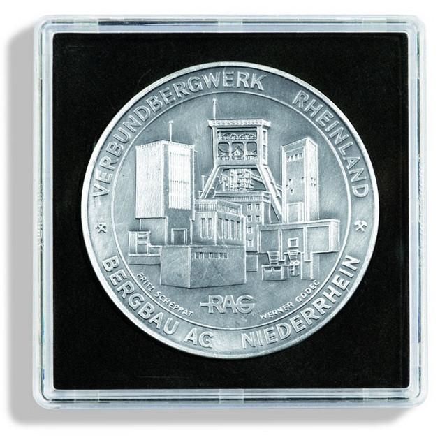 Капсула Leuchtturm квадратна QUADRUM для монет внутрішній діаметр 43мм.
