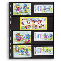 Лист к альбому Leuchtturm, OPTIMA, 2x4 делений по 180 x 58 мм, черный, 4S, фото 1