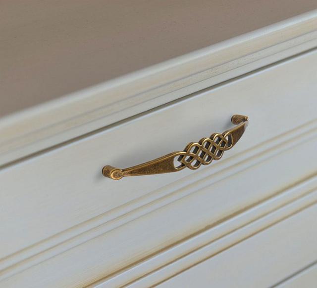 Мебельная ручка скоба в бронзе для кухни