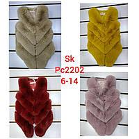 Жилеты меховые для девочек оптом, Setty Koop, 6-14 лет,  № PC2202, фото 1