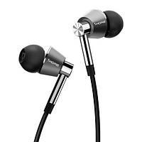 Навушники вакуумні провідні з мікрофоном 1More E1001 Tr iver Mic Silver 1More E1001 Triple Driver Mic срібний