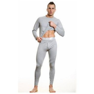 Мужское нательное термобелье C Klein кофта и штаны на широкой резинке 3 цвета Хлопок реплика
