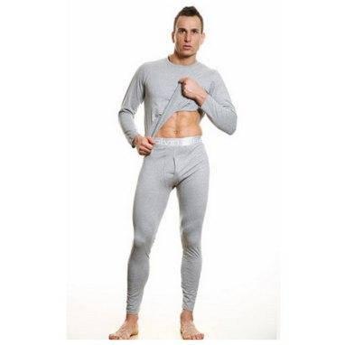 Мужское нательное термобелье C Klein кофта и штаны на широкой резинке 3 цвета Хлопок реплика, фото 2