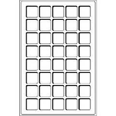TAB40DBL Лоток для монет (ячейка 33*33) с прозрачной защитной крышкой