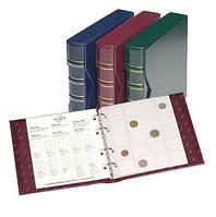 Альбом для монет или банкнот Leuchtturm, NUMIS, c футляром, без листов, синий