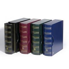 Альбом Leuchtturm, GRANDE GIGANT для монет в холдерах или банкнот, с футляром, синий