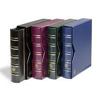 Альбом Leuchtturm, OPTIMA вместимостью (до 60 листов) для монет или банкнот, с футляром,синий