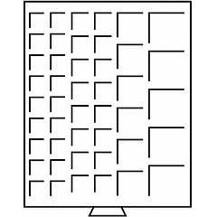 Бокс Leuchtturm для монет (размер ячейки от 24*24 до 50*50 мм)