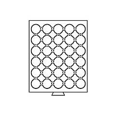 Бокс Leuchtturm для монет (диаметр ячейки 39 мм), для 5 грн. НБУ серебро
