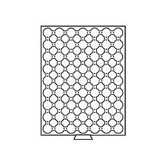 Бокс Leuchtturm для монет (диаметр ячейки 25 мм)