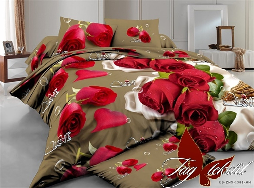 Комплект постельного белья XHY1388 двуспальный (TAG polycotton 2-sp-525)