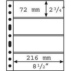 Лист к альбому Leuchtturm, GRANDE, для банкнот, 4С