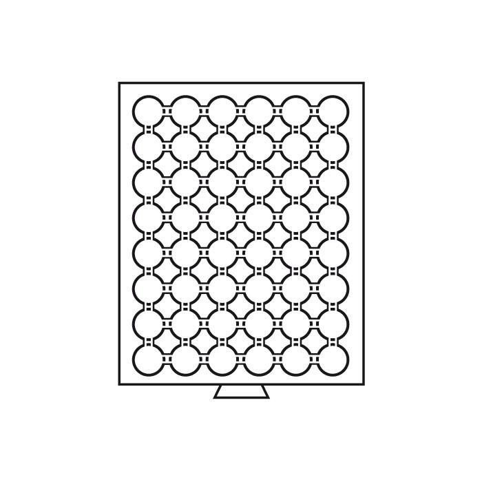 Бокс Leuchtturm для монет (діаметр комірки 29 мм)