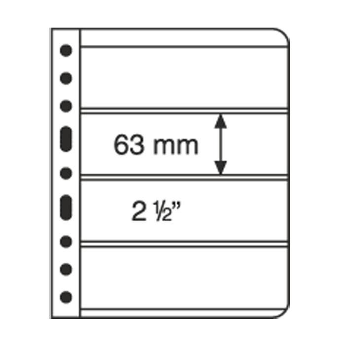 VARIO4S Лист к альбому VARIO, 2x4 делений по 195 x 63 мм, черный