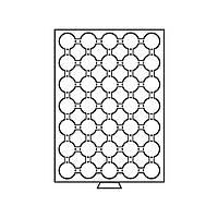 Бокс Leuchtturm для монет (диаметр ячейки 32 мм)