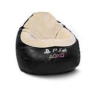 "Кресло мешок PufOn, с логотипом ""PS 4"" Оксфорд, L (70*100 см)"