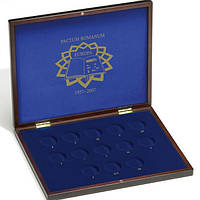 HMKC2EUROM13 Кассета из дерева для 2 euro, римский договор 13 монет (диаметр ячейки 32 мм)